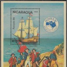 Sellos: NICARAGUA HB 169 1984 AUSIPEX 84 EXPOSICIÓN FILATÉLICA INTERNACIONAL MNH. Lote 123933040