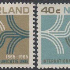 Sellos: HOLANDA NETHERLANDS 814/15 1965 CENT. DE LA UNIÓN INTER. DE TELECOMUNICACIONES. Lote 123951014