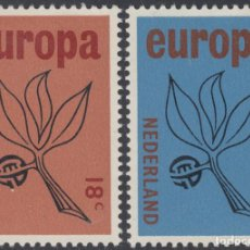 Sellos: HOLANDA NETHERLANDS 822/23 1965 EUROPA FLORA RAMA LUJO. Lote 123951022