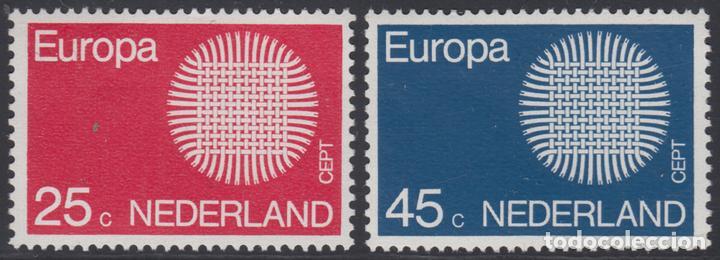 HOLANDA NETHERLANDS 914/15 1970 EUROPA MNH (Sellos - Extranjero - Oceanía - Otros paises)
