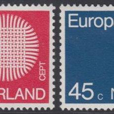 Sellos: HOLANDA NETHERLANDS 914/15 1970 EUROPA MNH. Lote 123951046
