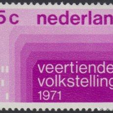 Sellos: HOLANDA NETHERLANDS 926 1971 14º CENSO GENERAL LUJO. Lote 123951054