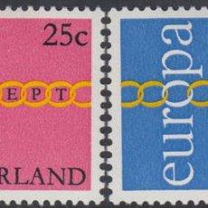 Sellos: HOLANDA NETHERLANDS 932/33 1971 EUROPA LUJO. Lote 123951062