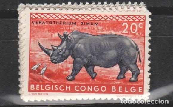 LOTE E2 SELLOS SELLO CONGO BELGA TEMA FAUNA NUEVO (Sellos - Extranjero - Oceanía - Otros paises)