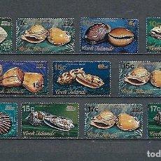 Sellos: ISLAS COOK,1973,SERIE GENERAL, SOBRECARGADOS,CONCHAS,NUEVOS,MNH**,YVERT 487-497. Lote 130649793