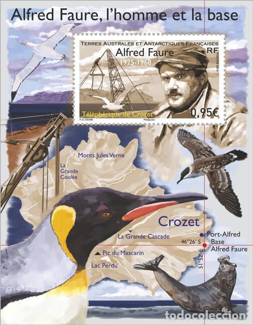 TAAF 2018 - CROZET ALFRED FAURE SOUVENIR SHEET MNH (Sellos - Extranjero - Oceanía - Otros paises)