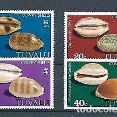 Sellos: TUVALU,1980,CONCHAS MARINAS,YVERT 126-129. Lote 142355758
