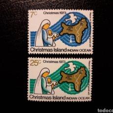 Sellos: CHRISTMAS. YVERT 59/60. SERIE COMPLETA NUEVA SIN CHARNELA. NAVIDAD. MAPAS.. Lote 143649622