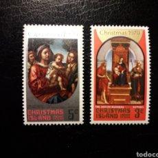 Sellos: CHRISTMAS. YVERT 35/6. SERIE COMPLETA NUEVA SIN CHARNELA. NAVIDAD.. Lote 143649746