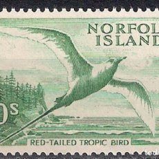 Sellos: NORFOLK ISLAND 1961 SC# 41 10SH GREEN MNH - 8/21. Lote 146936494