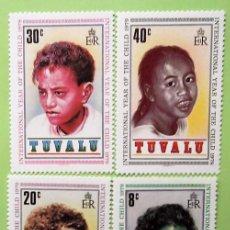 Sellos: TUVALU. 122/25 AÑO INTERNACIONAL DEL NIÑO. 1979. SELLOS NUEVOS Y NUMERACIÓN YVERT.. Lote 147354542