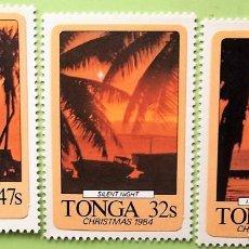 Sellos: TONGA. 586/88 PAISAJES CREPUSCULARES. 1984. . SELLOS NUEVOS Y NUMERACIÓN YVERT.. Lote 147354586