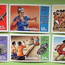 Sellos: TOKELAU. 97/02 JUEGOS TRADICIONALES. 1982. SELLOS NUEVOS Y NUMERACIÓN YVERT.. Lote 147354590