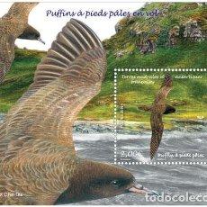Sellos: TAAF 2019 - PUFFINS À PIEDS PÂLES EN VOL SHEET MNH. Lote 147716102