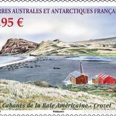 Sellos: TAAF 2019 - CABANES DE LA BAIE AMÉRICAINE - CROZET MNH. Lote 147643450