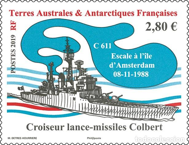 TAAF 2019 - BATEAU CROISEUR LANCE-MISSILES COLBERT MNH (Sellos - Extranjero - Oceanía - Otros paises)