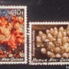 Sellos: PAPUA NUEVA GUINEA CORALES MARINOS SERIE DE SELLOS USADOS. Lote 151745921