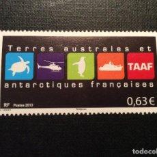 Sellos: TAAF Nº YVERT 681*** AÑO 2013. LOGO DE LAS TIERRAS AUSTRALES ANTARTICAS FRANCESAS. Lote 152230430