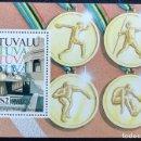 Sellos: 1996. DEPORTES. TUVALU. HB 41. NUEVO. JUEGOS OLÍMPICOS '92 BARCELONA.. Lote 152921778