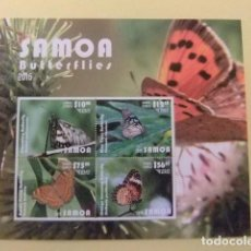 SAMOA 2015 FAUNA PAPILLONS BUTTERFLIES MARIPOSAS bloc ** MNH