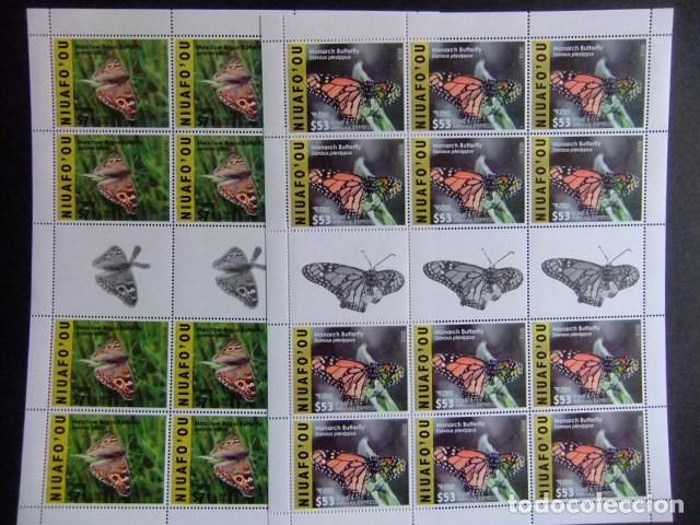Sellos: NIUAFO'OU 2015 - 2016 FAUNA Mariposas Insects Butterflies sellos ** MNH - Foto 3 - 154598226