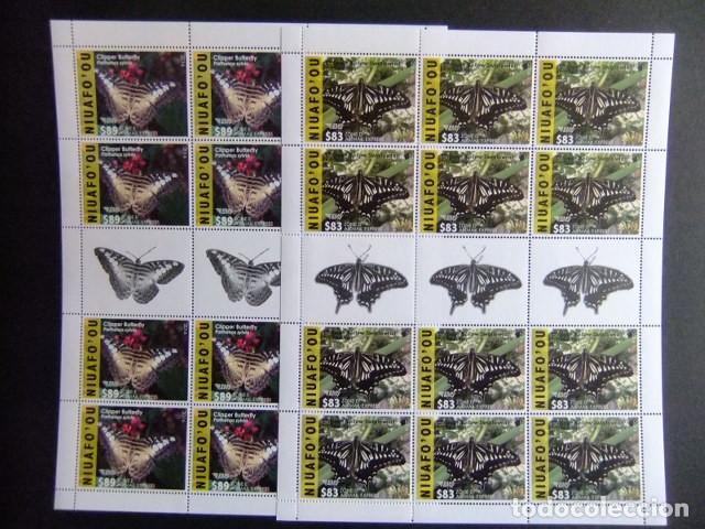 Sellos: NIUAFO'OU 2015 - 2016 FAUNA Mariposas Insects Butterflies sellos ** MNH - Foto 4 - 154598226