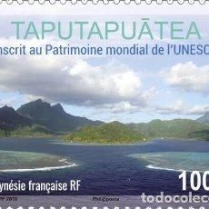 Sellos: FRENCH POLYNESIA 2019 - MARAE TAPUTAPUATEA MNH. Lote 155542022