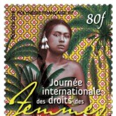 Sellos: FRENCH POLYNESIA 2019 - JOURNÉE INTERNATIONALE DES DROITS DES FEMMES MNH. Lote 155542090
