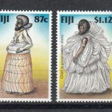 Sellos: FIJI 1998 - TRAJES REGIONALES - YVERT Nº 831/834**. Lote 155582486