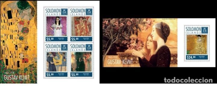 SOLOMON ISLANDS 2014 - GUSTAV KLIMT SOUVENIR SHEET SET MNH (Sellos - Extranjero - Oceanía - Otros paises)