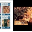 Sellos: SOLOMON ISLANDS 2014 - GUSTAV KLIMT SOUVENIR SHEET SET MNH. Lote 159895430