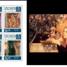 Stamps - Solomon Islands 2014 - Gustav Klimt souvenir sheet set mnh - 159895430