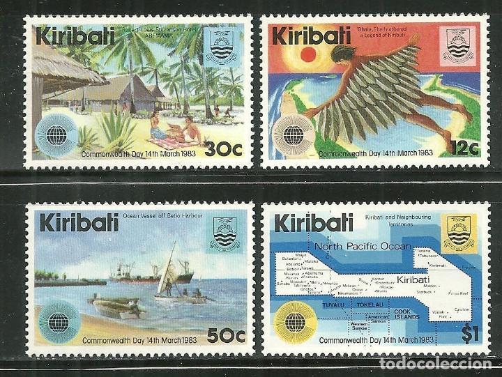 KIRIBATI 1983 IVERT 96/9 *** DÍA DE LA COMMONWEALTH - LOGO DE LA JORNADA (Sellos - Extranjero - Oceanía - Otros paises)