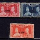 Sellos: NIUE 59/61* - AÑO 1937 - CORONACION DE GEORGE VI. Lote 161799246