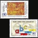 Sellos: 1990 CHIPRE TURCO - (STAMPWORLD) Nº 296/97. Lote 164008209