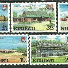 Sellos: KIRIBATI 1980 IVERT 37/41 *** DESARROLLO DEL TURISMO - CONSTRUCCIONES . Lote 168074256