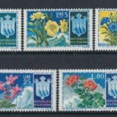 Sellos: SAN MARINO 1953 1ª EMISION FLORES Nº 400/408 **. Lote 168186664