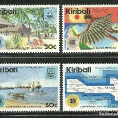 Sellos: KIRIBATI 1983 IVERT 96/9 *** DÍA DE LA COMMONWEALTH - LOGO DE LA JORNADA. Lote 169318480
