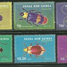Sellos: PAPUA Y NUEVA GUINEA 2005 IVERT 1061/66 *** FAUNA - INSECTOS COLEOPTEROS. Lote 176163430