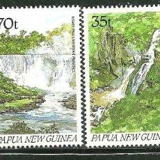 Sellos: PAPUA Y NUEVA GUINEA 1990 IVERT 605/08 *** SITIOS TURISTICOS - CASCADAS DE AGUA. Lote 176920209