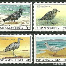 Sellos: PAPUA Y NUEVA GUINEA 1990 IVERT 618/21 *** FAUNA - AVES MIGRATORIAS. Lote 176920668