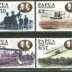 Sellos: PAPUA Y NUEVA GUINEA 2003 IVERT 943/46 *** CENTENARIO DE LA AVIACIÓN (II) - AVIONES. Lote 176921492