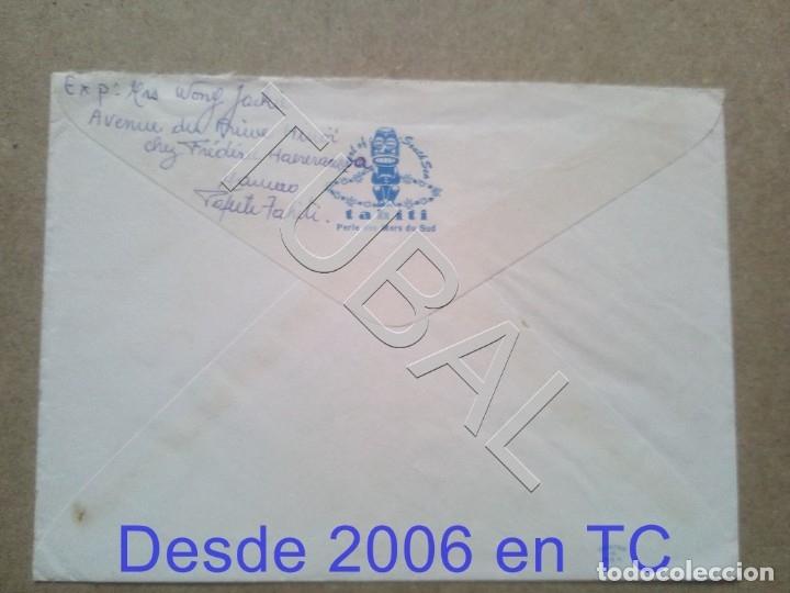 Sellos: TUBAL TAHITI FRANCIA CORREO AEREO POLINESIA FRANCESA SOBRE CARTA 1968 ENVÍO 2019 70 CTMS T1 - Foto 2 - 179029172