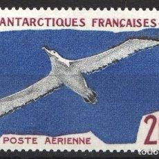 Sellos: TERRITORIO ANTÁRTICO FRANCES, AÉREO 1959-63 YVERT Nº 4 /**/ AVES, ALBATROS. . Lote 179117408