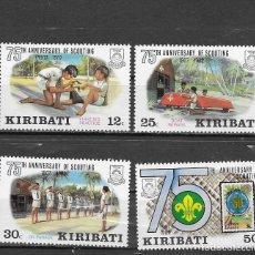 Sellos: KIRIBATI Nº 88 AL 91 (**). Lote 199219438
