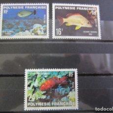 Sellos: POLINESIA FRANCESA 1981 - 3 V. NUEVO CHARNELA. Lote 180273290
