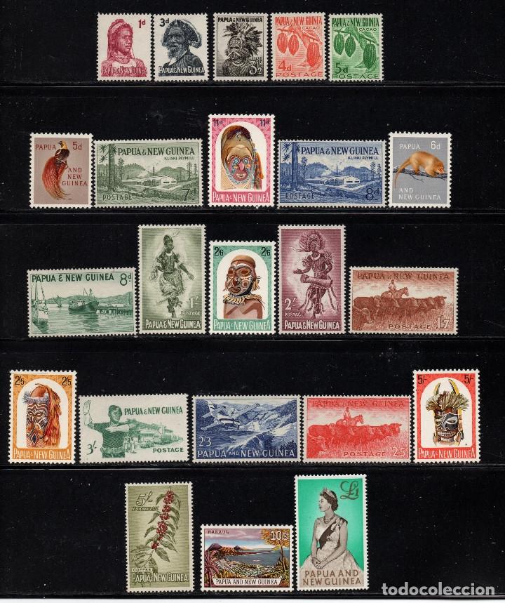 PAPUA 18/40** - AÑO 1958 - FAUNA, FLORA, AVES, BARCOS, ARTESANÍA, FOLKLORE (Sellos - Extranjero - Oceanía - Otros paises)