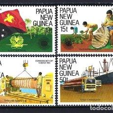Sellos: 1983 PAPÚA NUEVA GUINEA DÍA COMMONWEALTH BARCO BANDERAS - NUEVOS MNH** . Lote 182462815