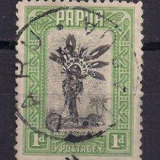 Sellos: PAPUA, 1 PENIQUE AÑO 1932 CON MATASELLO DE DARU.. Lote 182491343
