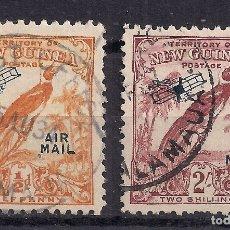 Sellos: PAPÚA NUEVA GUINEA, 1932-34, CORREO AEREO, YV #28 Y #40 MATASELLOS SALAMAU - RAROS.. Lote 182491543
